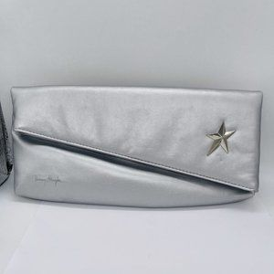 Thierry Mugler Silver Star Fold-over Clutch